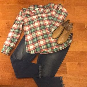 Vineyard Vines Plaid Flannel Shirt, Size 14